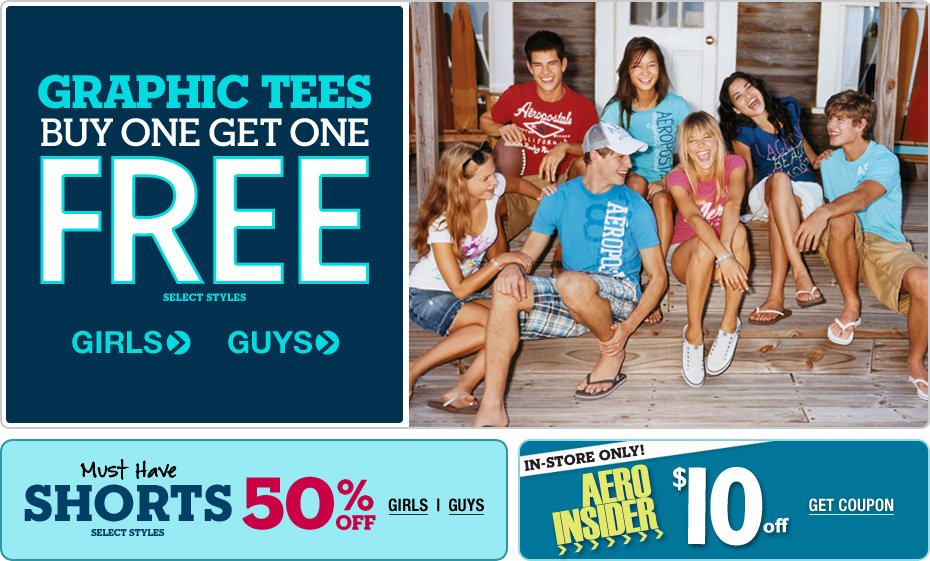 *Hot* $10 off $10 at Aeropostale