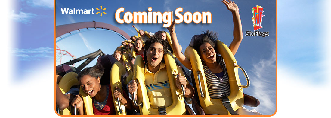 Six Flags Discounts at Walmart Starting June 1st