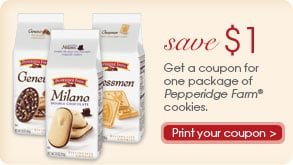 2 New $1 coupons from Pepperidge Farms
