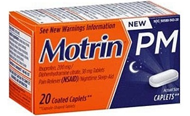 why cant you take motrin pm.