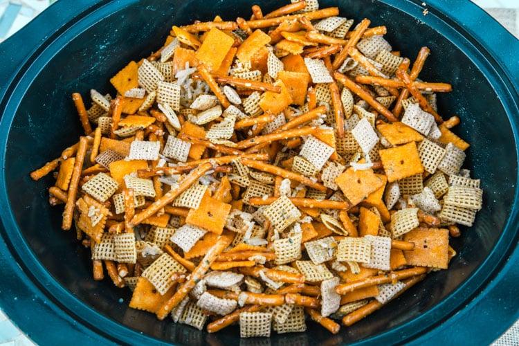 chex mix recipe in crockpot