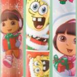 Walmart: Dora & Sponge Bob Christmas Wrap only $2 per roll!
