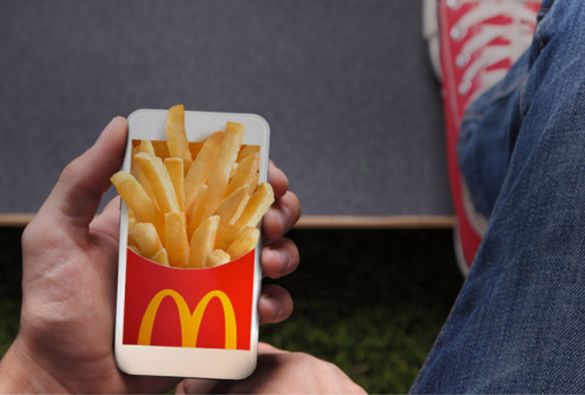 Free Medium Fries at McDonalds