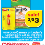 Possible FREE Carmex at CVS with $1.50 CVS coupon