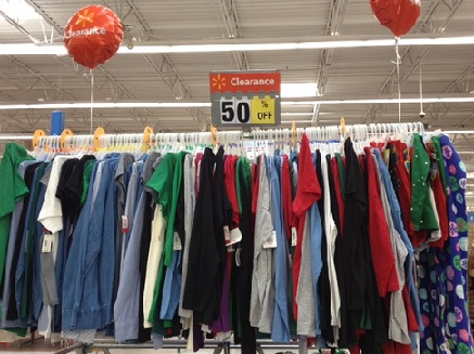 check your walmart for 50 clothes and shoes