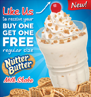 picture regarding Steak and Shake Coupon Printable referred to as Steak and Shake: BOGO Totally free Nutter Butter Milk Shake