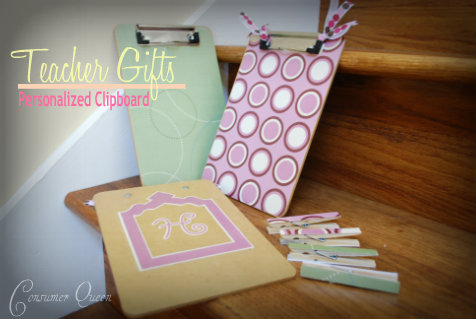 How to make a Personalized Clipboard and other Frugal Teacher Gifts Ideas!!