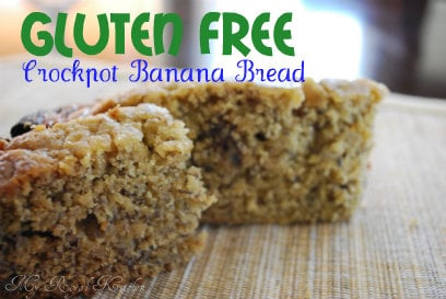 Gluten-Free Banana Bread made in the Crockpot!