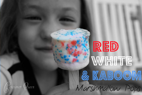Red, White, and Kaboom Marshmallow Pops!