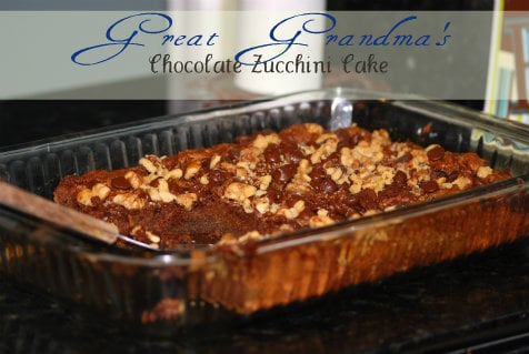 My Great Grandma's Zucchini Cake...you know it has to be ...