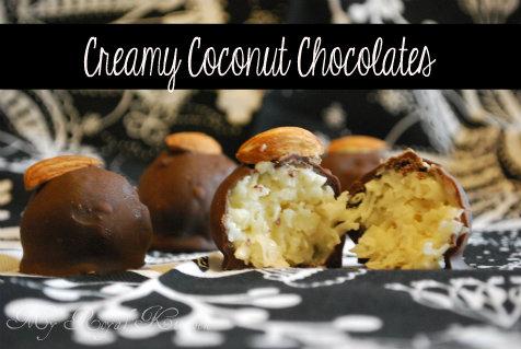 Creamy Coconut Chocolates…a naturally gluten-free treat!