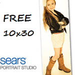 Sears Portrait Studio: FREE 10×30 Spotlight Portrait ($125 Value!)
