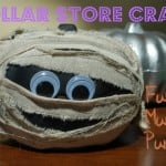 Dollar Store Craft: Make this adorable Funny Mummy Pumpkin for less than $2!
