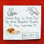 Reminder: Half Price Burritos at Sonic 9/4 and GIVEAWAY