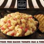 Corner Bakery Cafe FREE Bacon Tomato Mac & Three Cheese!