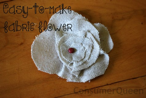 Easy-to-Make Fabric Flowers!