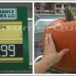 Large Pumpkins Only 2.99 at Aldi!