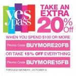 Kohl's Say Yes Pass 20% Off 100$ Purchase