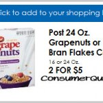 RURAL Homelands: Post Grape-nuts Only .50 With New Coupon!