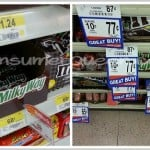 Milky Way Bars: .45 at Walmart, .49 at Crest, .51 at Homeland and .53 at Target!