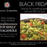 Cantina Laredo – Black Friday FREE Guacamole
