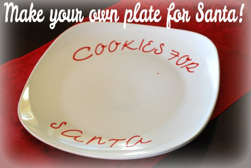 DIY: Make your own cookie plate for Santa!