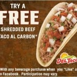 Del Taco – FREE Beef Taco With Beverage Purchase Coupon!