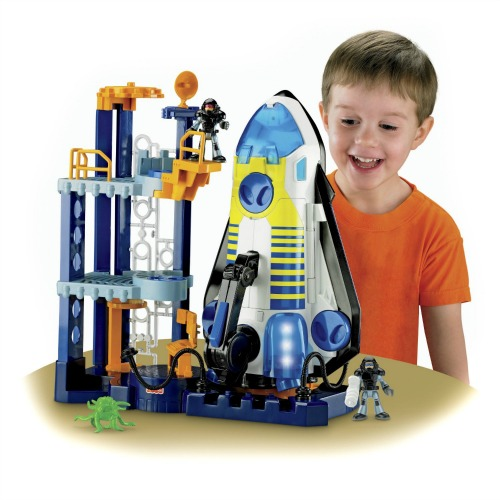 fisher price imaginext space shuttle playset