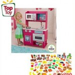 KidKraft Gracie Kitchen & 125-Piece Food Value Bundle $79