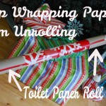 Simple tip to help keep your wrapping paper from unrolling!