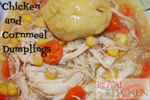 Chicken and Cornmeal Dumplings in the slow cooker
