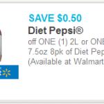 Diet Pepsi 2-liter as Low as 50¢ at Walmart!