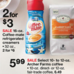 New BOGO Free Coffee-Mate = .75 at Target!
