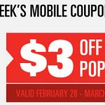 This Week's Regal Cinemas Mobile Coupon – 3.00 Off Popcorn