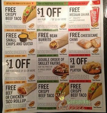 Taco bueno coupons