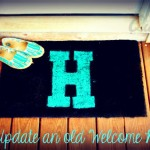 DIY: Update an old Welcome Mat!