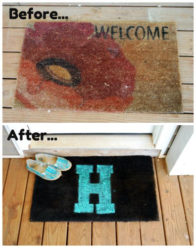 welcome mat before and after