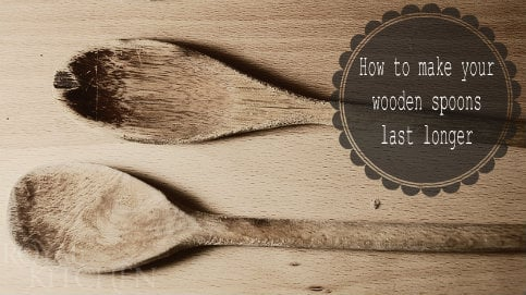 Kitchen Tip: How to make your wooden spoons last longer!