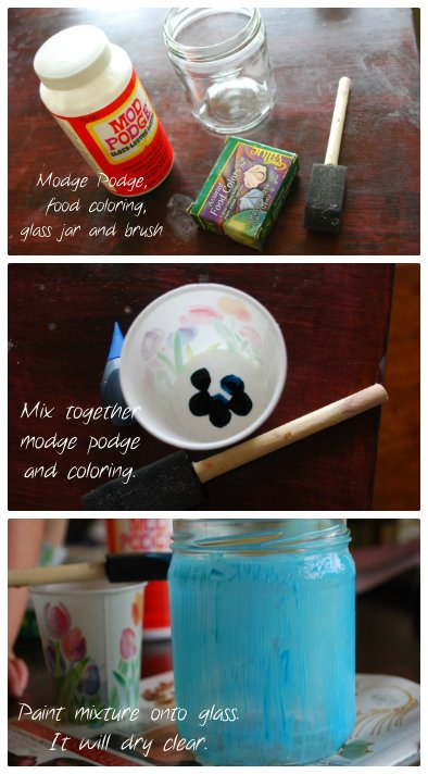 Tint glass jars- how to