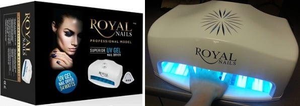 Royal Nails Professional UV Light Gel and Acrylic Nail Dryer 75% Off ...