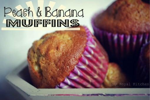 peach and banana muffins