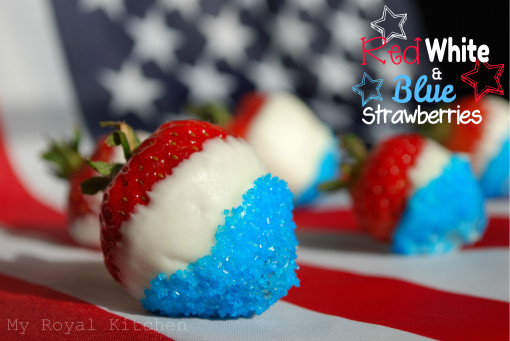 Red, White, & Blue Strawberries