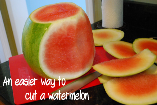 An easier way to cut a watermelon!