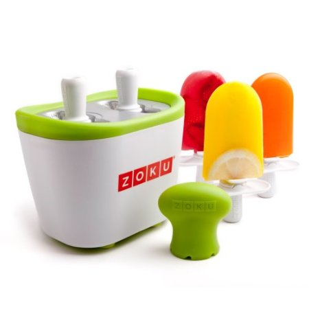 Cherry Limeade Popsicles with Zoku Popsicle Maker