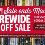 Half Price Books 20% off Storewide 8/29-9/2