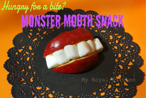 Hungry for a bite? Try this fun Monster Mouth Snack!