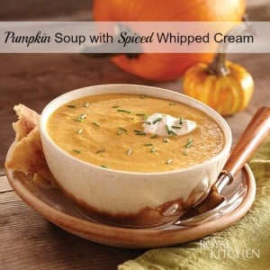 Pumpkin Soup with Spiced Whipped Cream