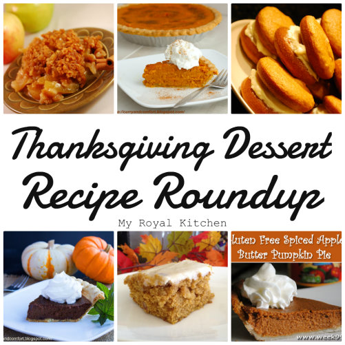 Thanksgiving Dessert Recipe Roundup!