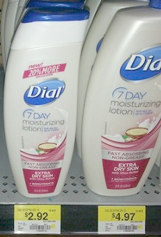 Dial 7 Day Lotion Just 92¢ at Walmart!