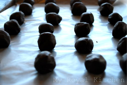 Nutella Truffles on the pan